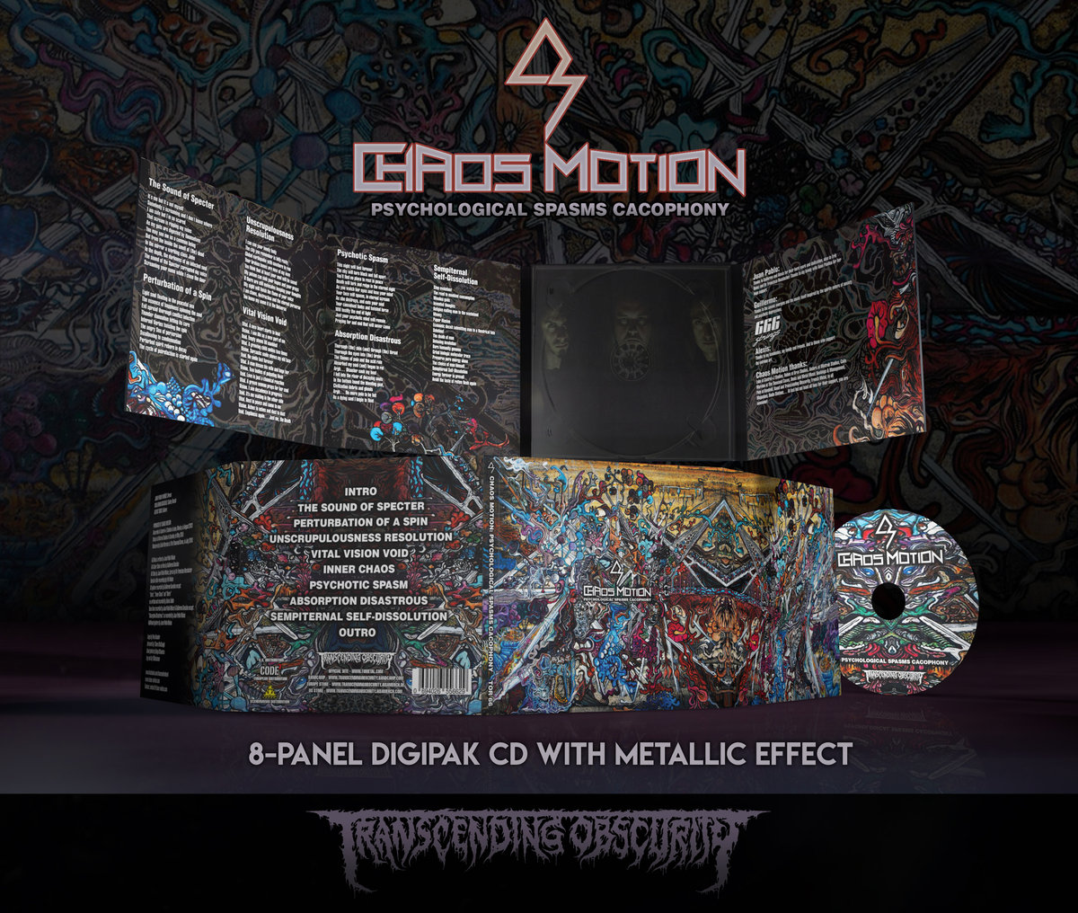CHAOS MOTION 8-Panel Digipak CD with Metallic Effect (FREE BADGE FOR ALL PRE-ORDERS!)
