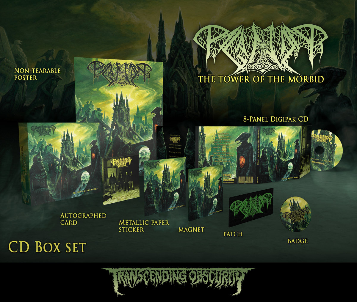 PAGANIZER - The Tower of the Morbid CD Box Set (Limited to 150)