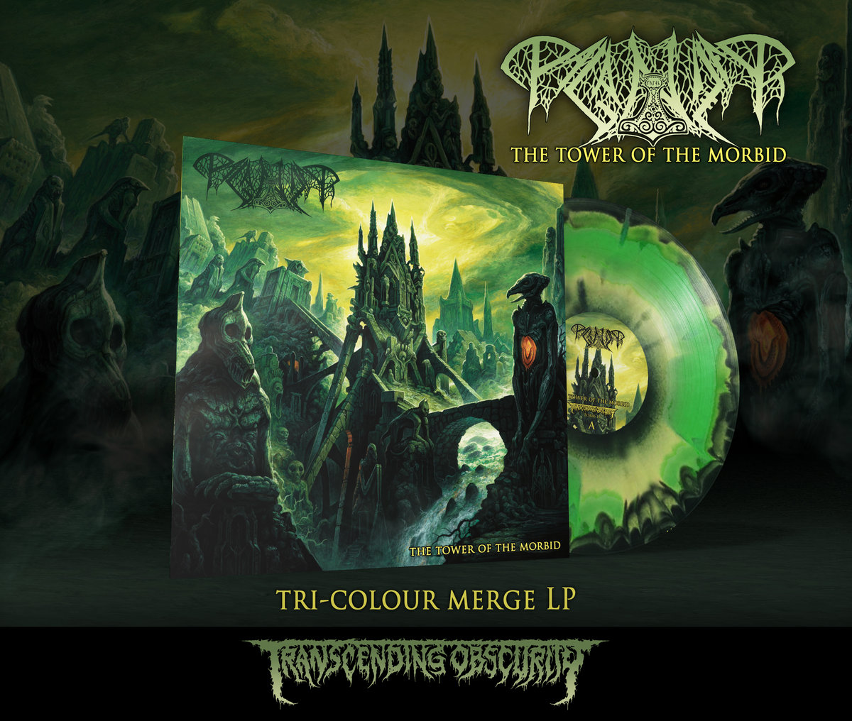 PAGANIZER - The Tower of the Morbid Tri-colour Merge LP with Insert (Limited to 100)
