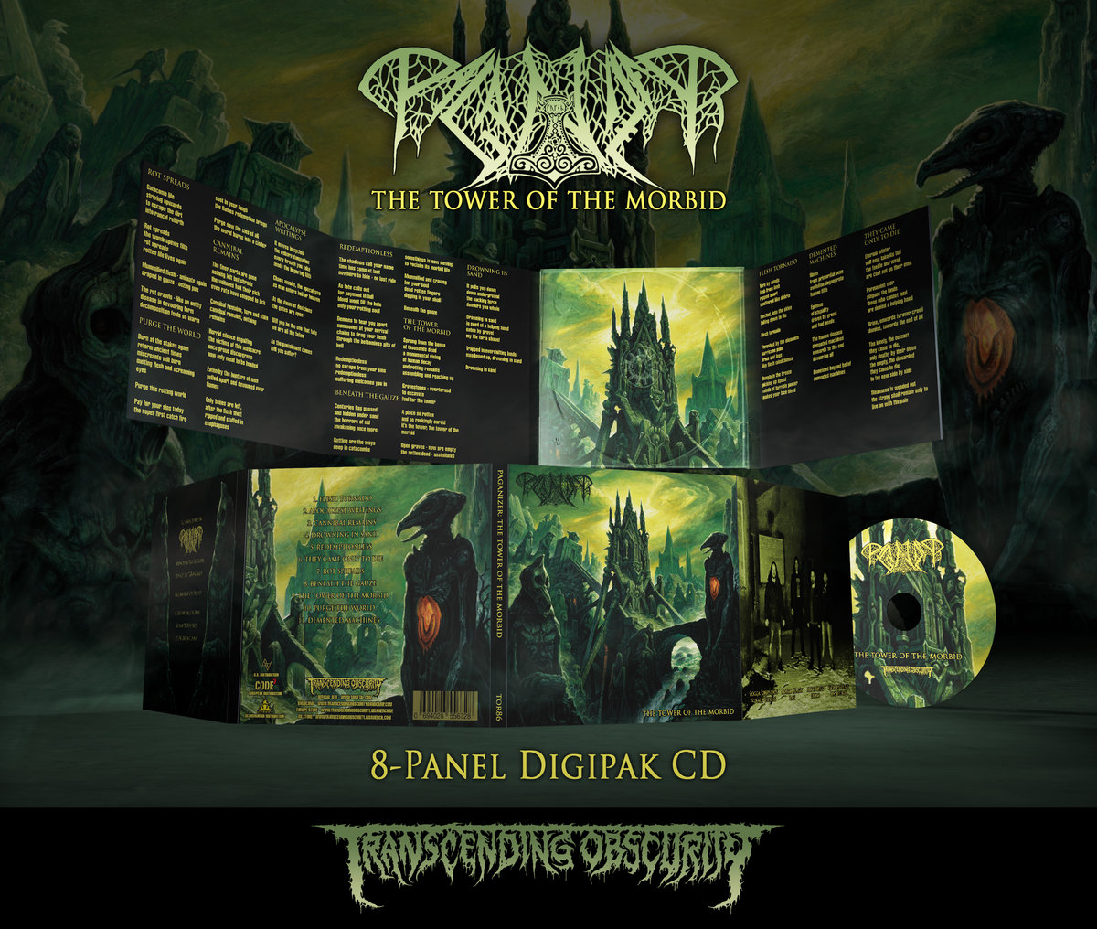 PAGANIZER - The Tower of the Morbid 8-Panel Digipak CD