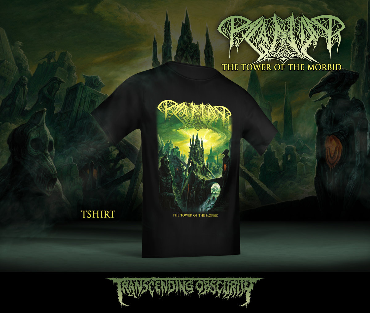 PAGANIZER - The Tower of the Morbid Album Artwork T-shirt (Limited to 50)