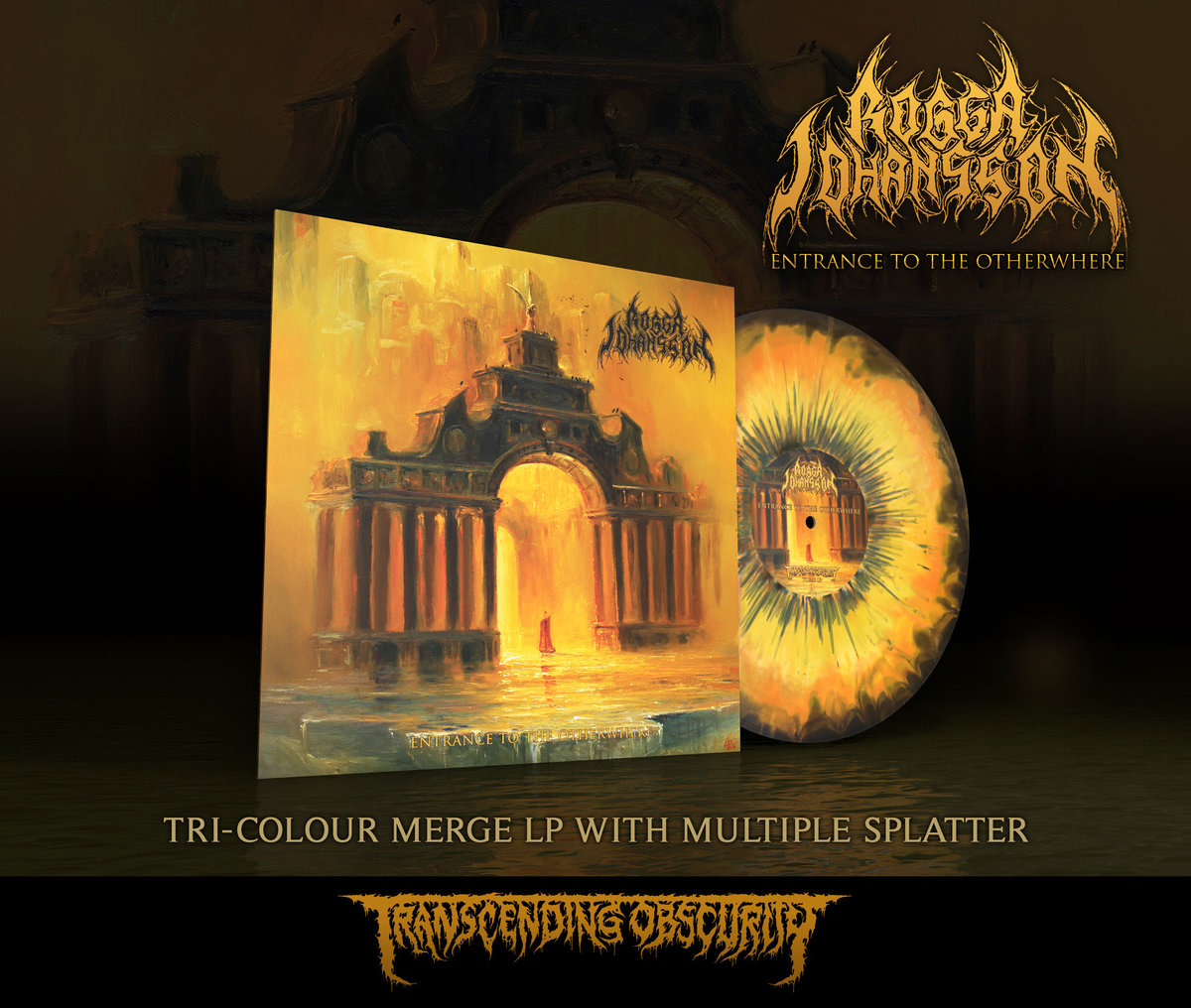 ROGGA JOHANSSON - Entrance to the Otherwhere Tri-colour Merge with Splatter LP (Limited to 100 only!)