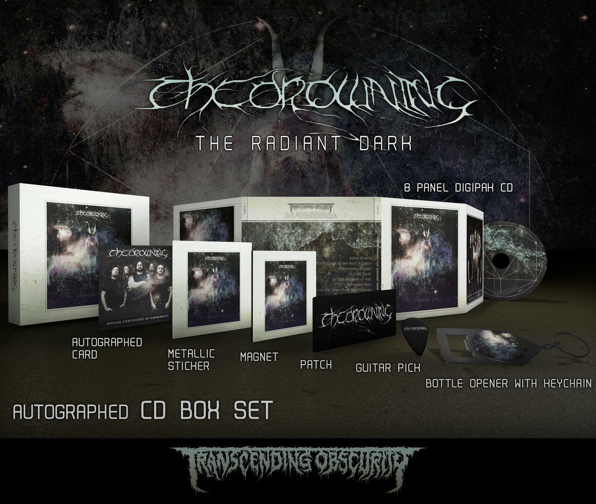 THE DROWNING (UK) -  The Radiant Dark (Death​/​Doom Metal) Autographed CD Box Set (Limited to 150)