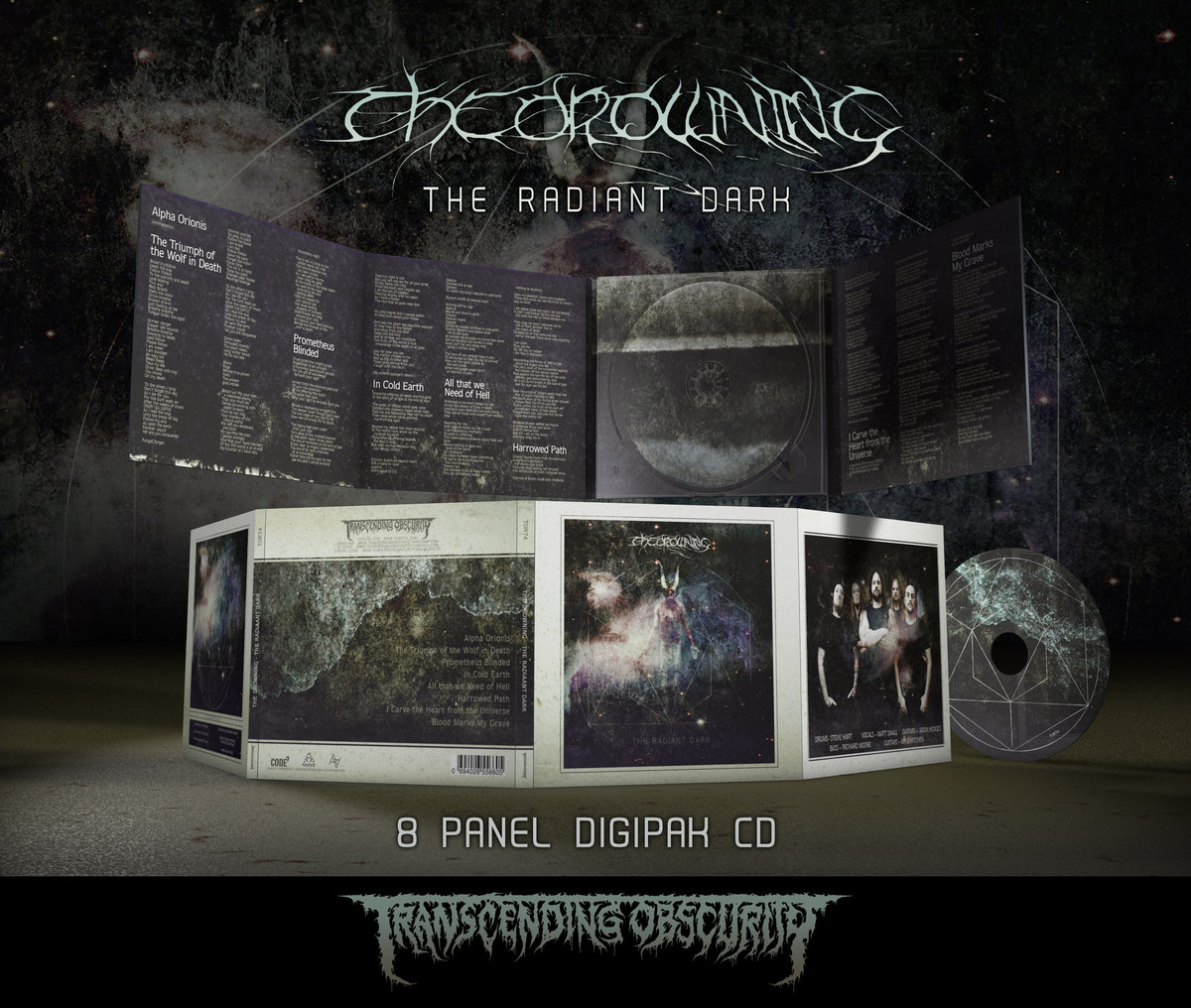THE DROWNING (UK) - The Radiant Dark (Death​/​Doom Metal)  8-Panel Digipak CD on Metallic Paper
