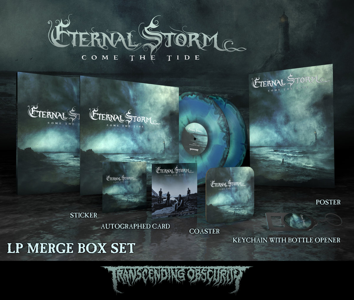 ETERNAL STORM - Come The Tide (Death Metal) Autographed Tri-Colour Merge Double LP Box Set (Limited to 25)