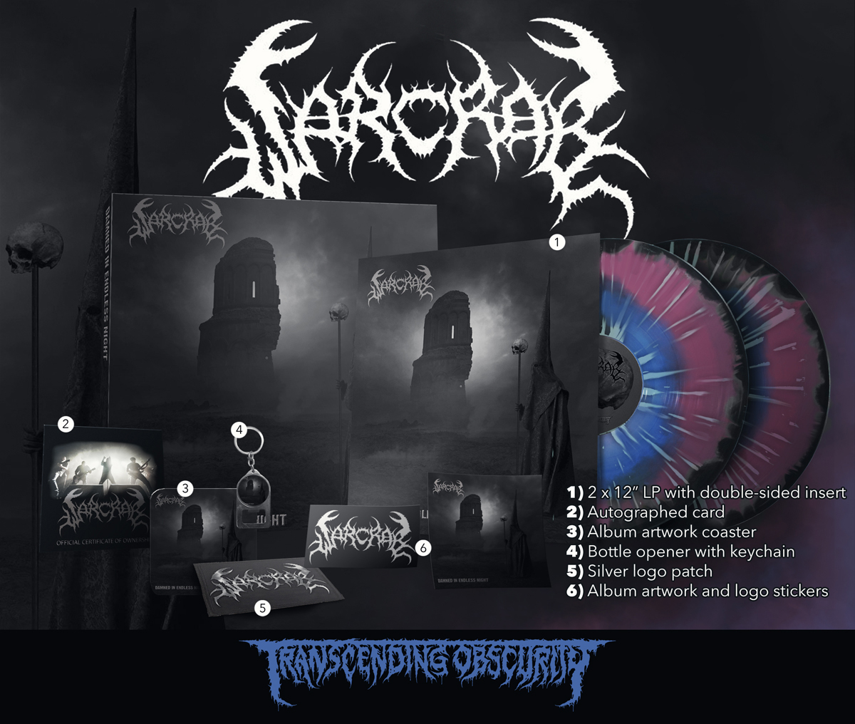 WARCRAB Blue/Purple/Black Merge with Splatter Double LP Box Set (Limited to 20)