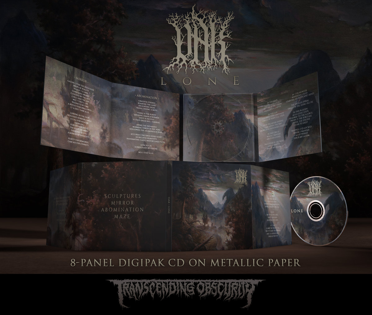 OAK (Portugal) - Lone 8-Panel Digipak CD on Metallic Paper