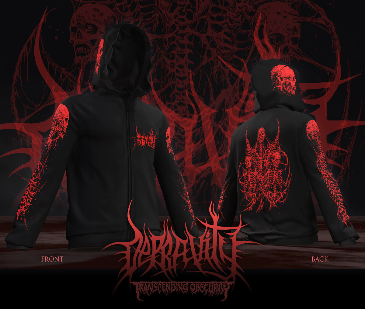DEPRAVITY Zipped Hoodie Design by Mark Riddick (Limited Reprint!)