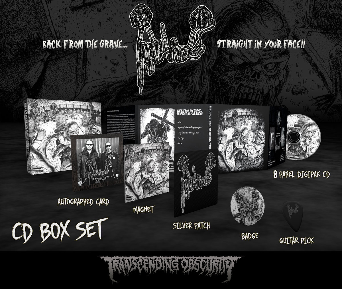 INNARDS Autographed Silver-embossed CD Box Set (Limited to 50)