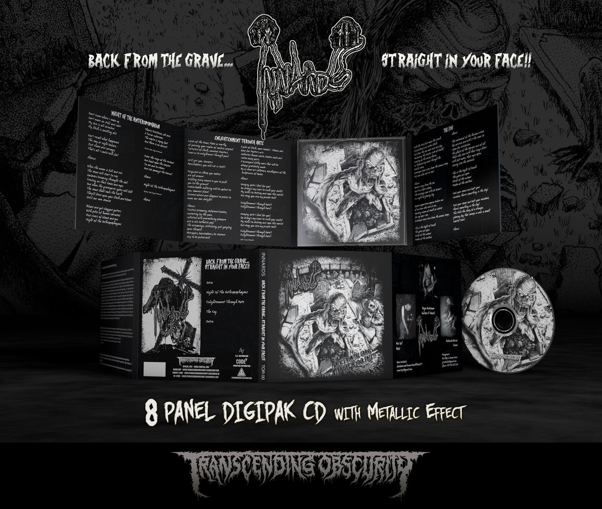 INNARDS 8-Panel Digipak CD with UV + Metallic Effect (Limited to 300 nos.)