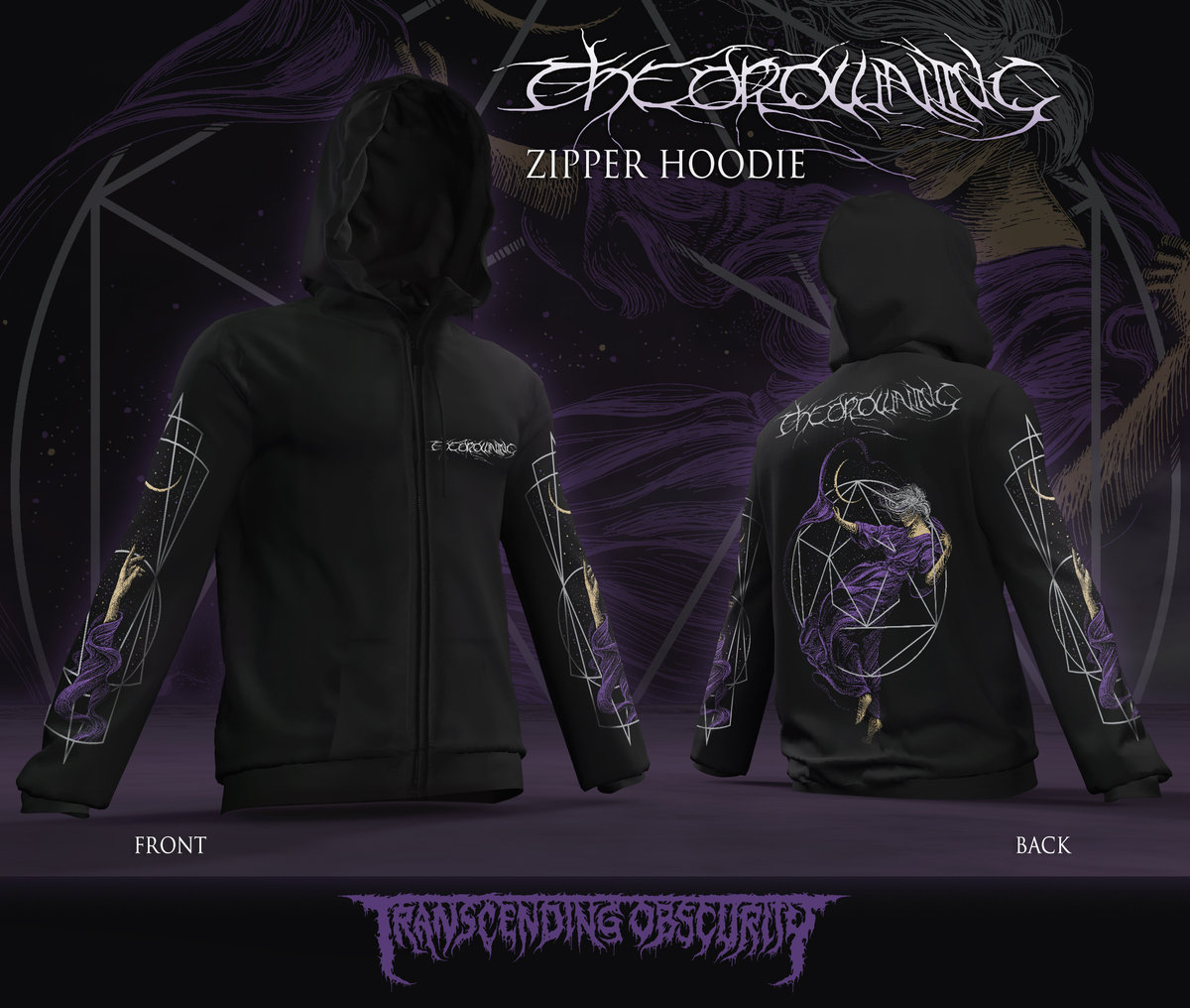 THE DROWNING Zipped Hoodie (Limited to 30 nos.)