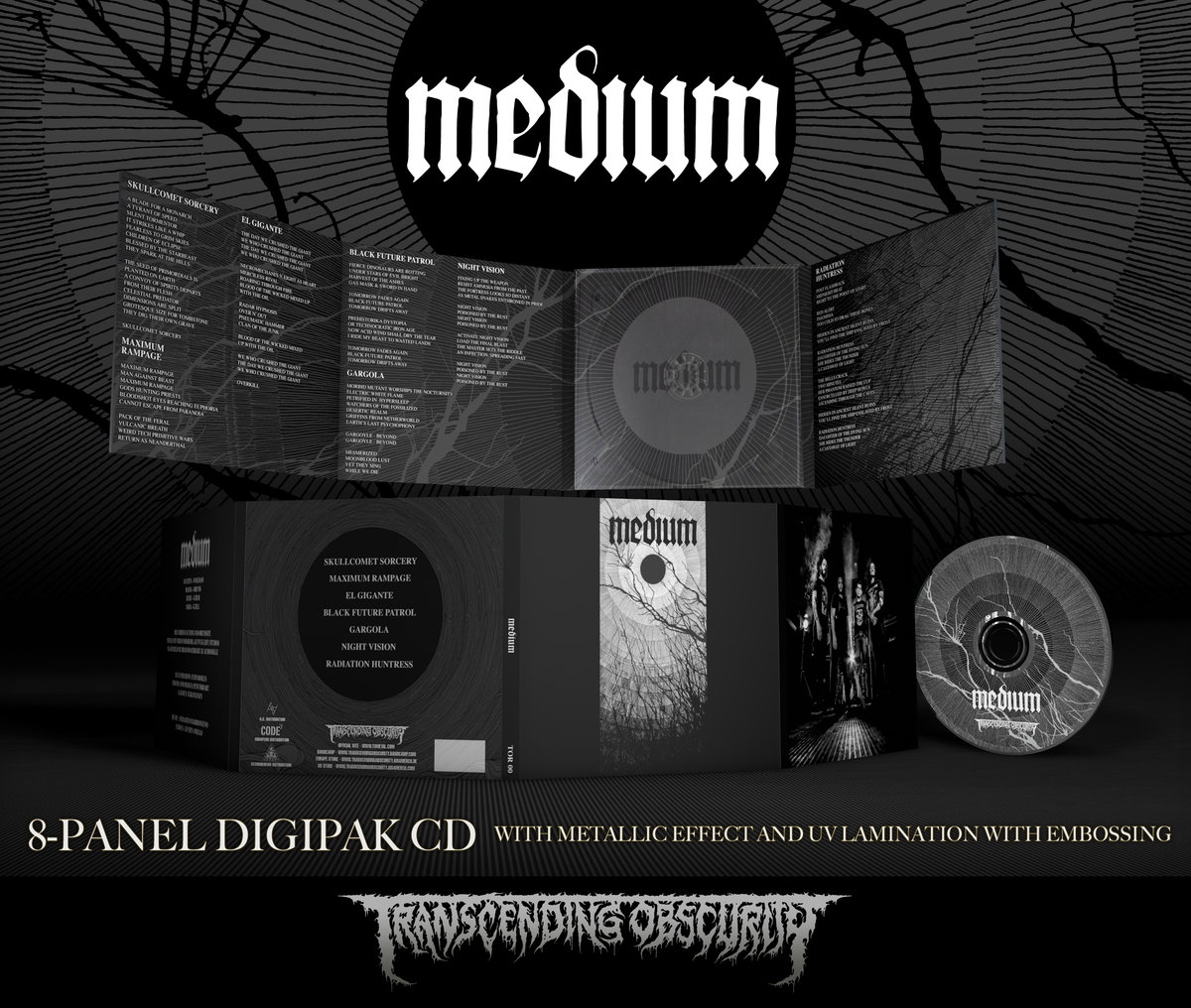 MEDIUM (Argentina) - Self Titled 8-Panel Digipak CD with Silver Effect and UV Lamination with Embossing (Limited to 250)