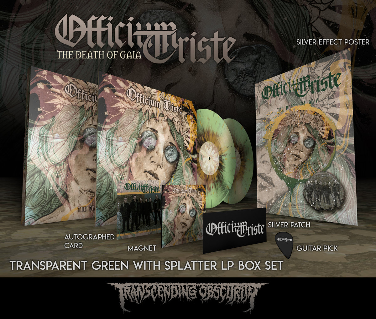 OFFICIUM TRISTE Autographed Splatter LP Box Set with Silver Embossing (Limited to 50)