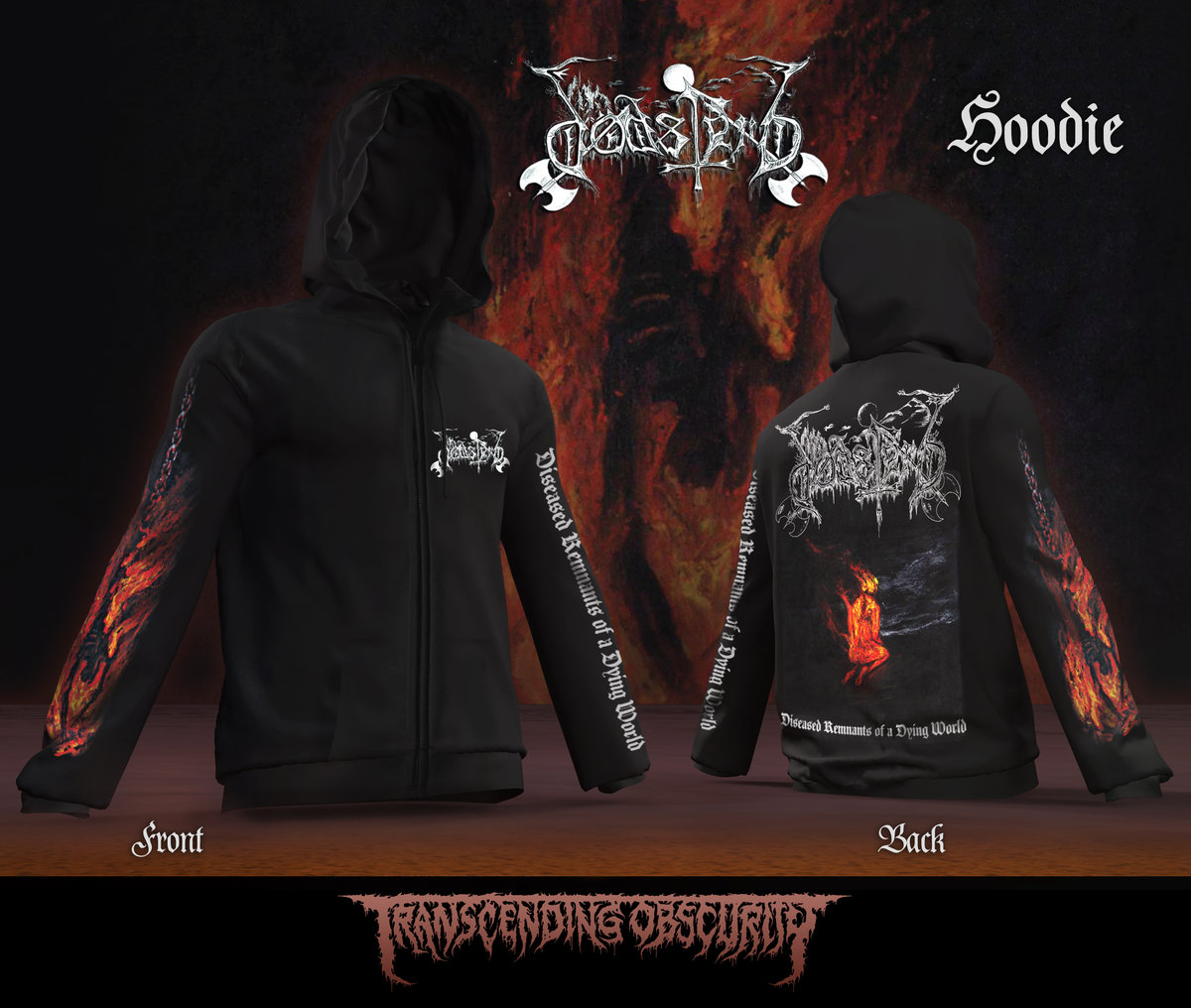 DØDSFERD - Album Artwork Zipped Hoodie (Limited to 25 nos.)
