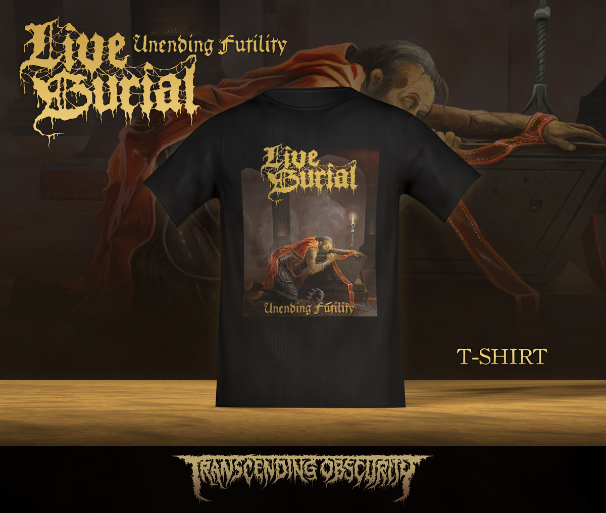LIVE BURIAL - Unending Futility T-shirt (Limited to 30)