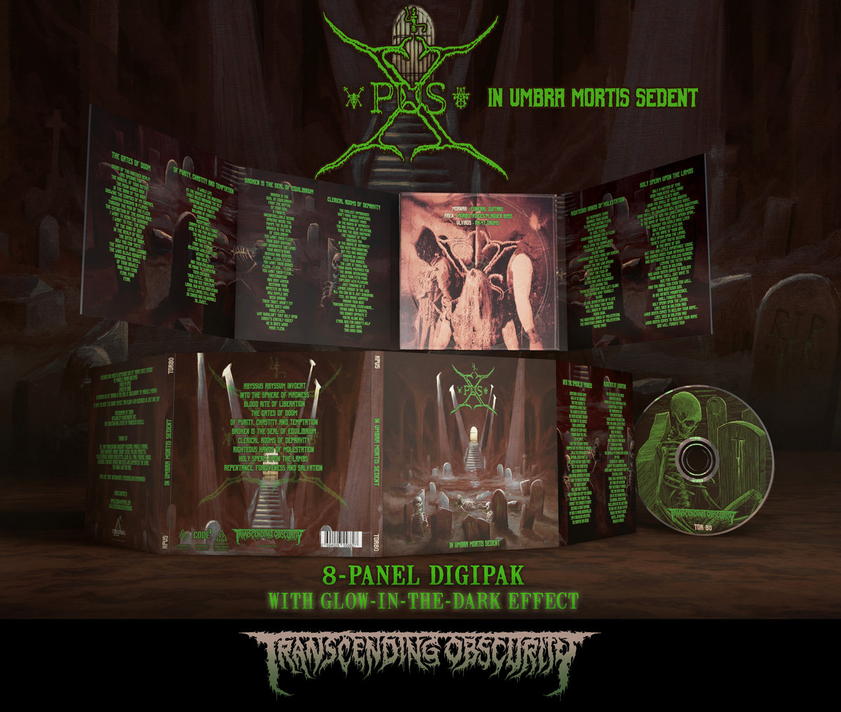 XPUS -  In Umbra Mortis Sedent (Death Metal) Glow-in-the-dark effect 8-Panel Digipak CD