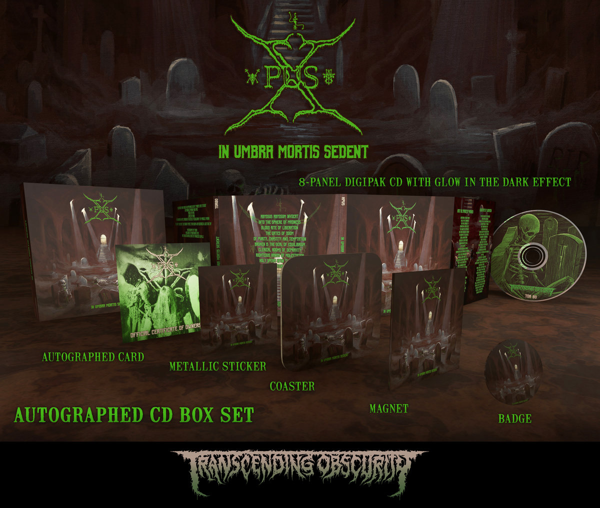 XPUS (Italy) - In Umbra Mortis Sedent (Death Metal) Autographed Digipak CD Box Set (Limited to 75)