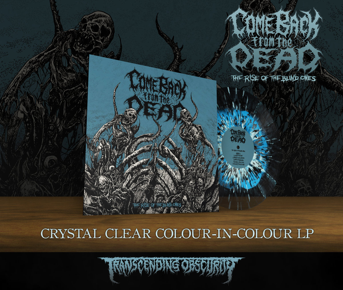 COME BACK FROM THE DEAD Crystal Clear with Blue Gatefold LP (Limited to 100)
