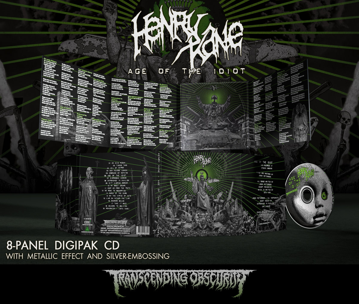 HENRY KANE 8-Panel Digipak CD with Metallic Effect and Silver Embossing