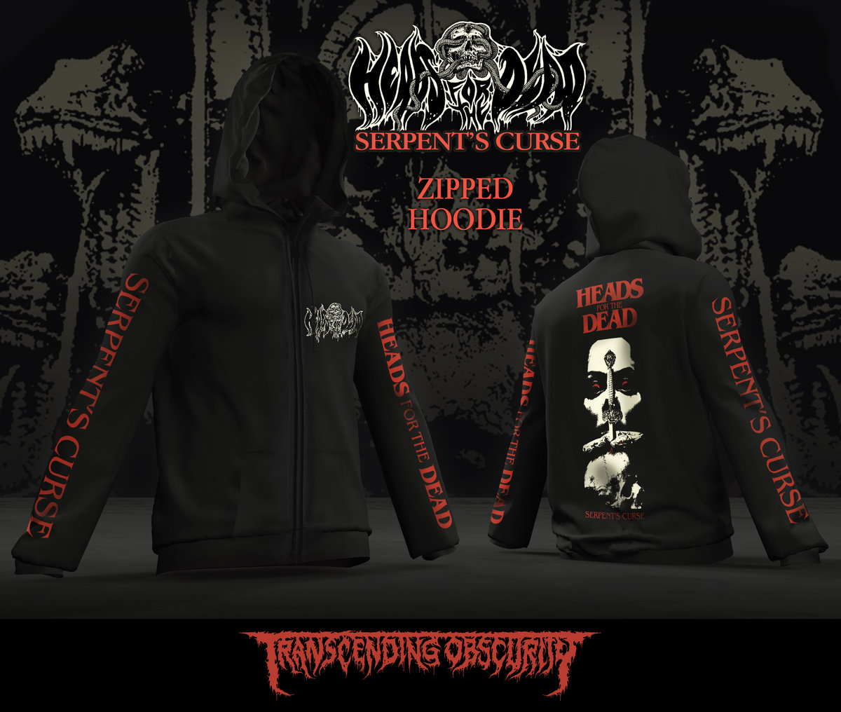 HEADS FOR THE DEAD Zipped Hoodie (Limited to 20)