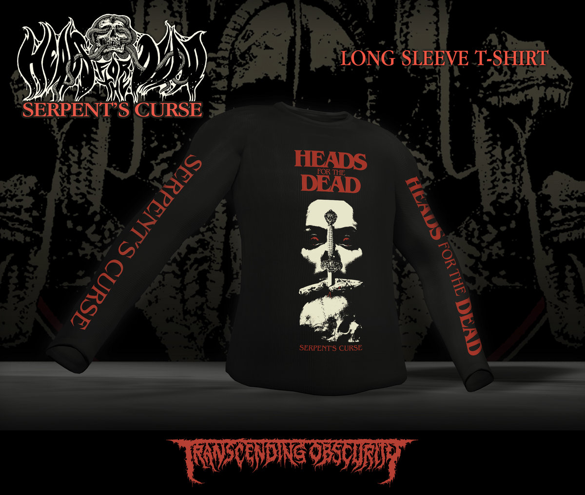 HEADS FOR THE DEAD Long Sleeve T-shirt (Limited to 20)
