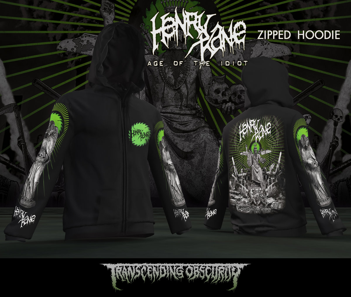 HENRY KANE Metal Zipped Hoodie (Limited to 15)