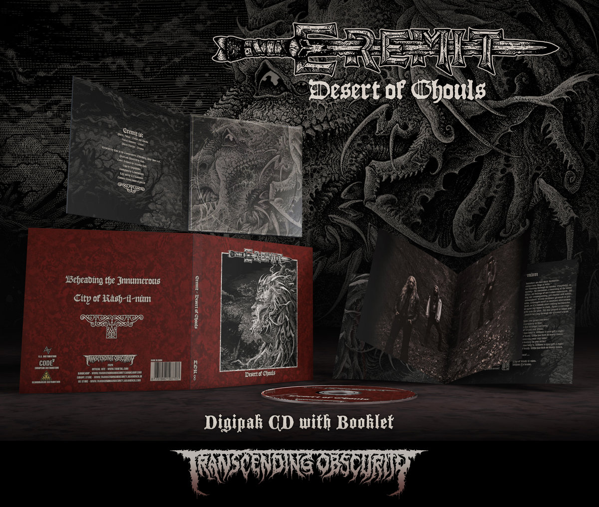 EREMIT - Desert of Ghouls Digipak CD with embossing/UV lamination + Booklet
