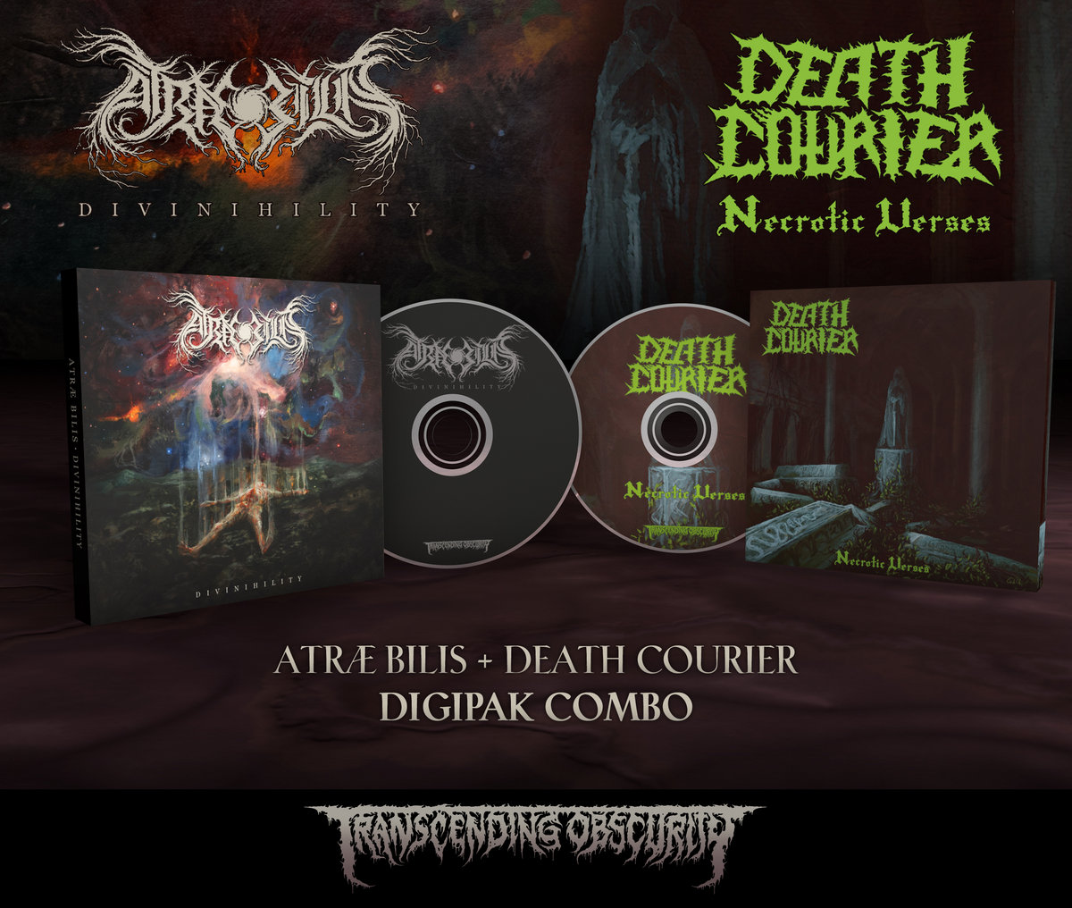 ATRÆ BILIS + DEATH COURIER CD Combo