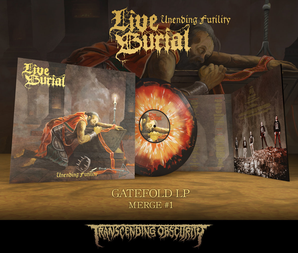 LIVE BURIAL Merge #1 Gatefold LP with metallic effect and embossing/UV (Limited to 75)