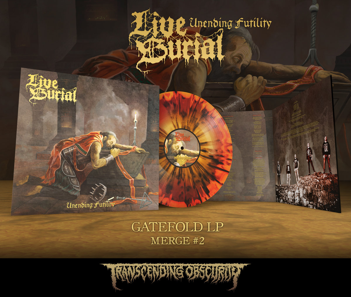 LIVE BURIAL Merge #2 Gatefold LP with metallic effect and embossing/UV (Limited to 75)