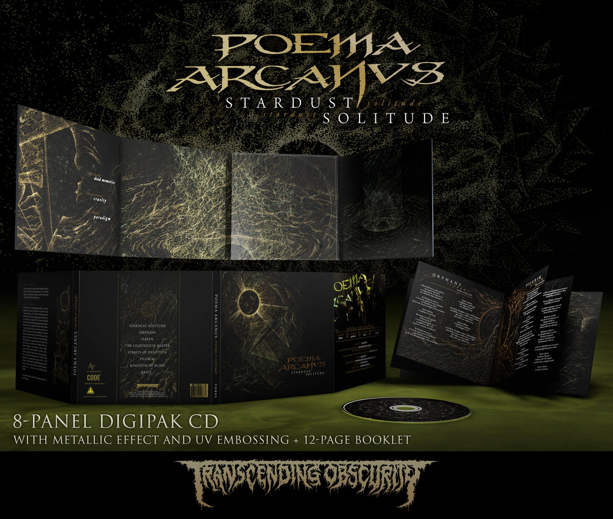 POEMA ARCANVS - 8-Panel Digipak CD with Metallic/UV Effect and 12-Page Booklet