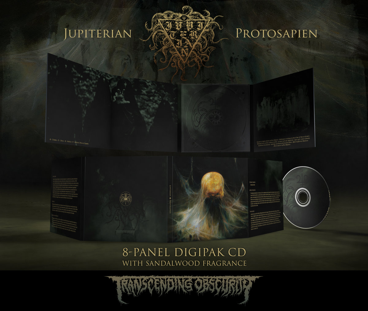 JUPITERIAN - Protosapien 8-Panel Digipak CD with Metallic Effect and Sandalwood Fragrance