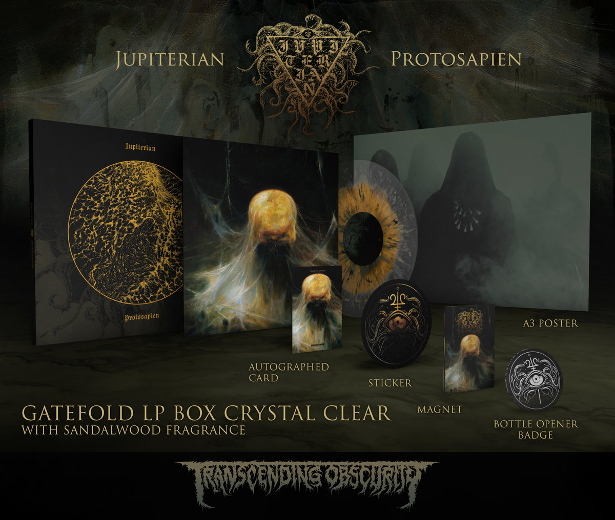 JUPITERIAN - Protosapien Autographed Gold LP Box Set (Limited to 25) Crystal LP Variant