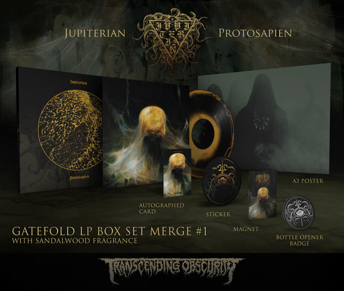 JUPITERIAN - Protosapien Autographed Gold LP Box Set (Limited to 25) Merge #1 Variant