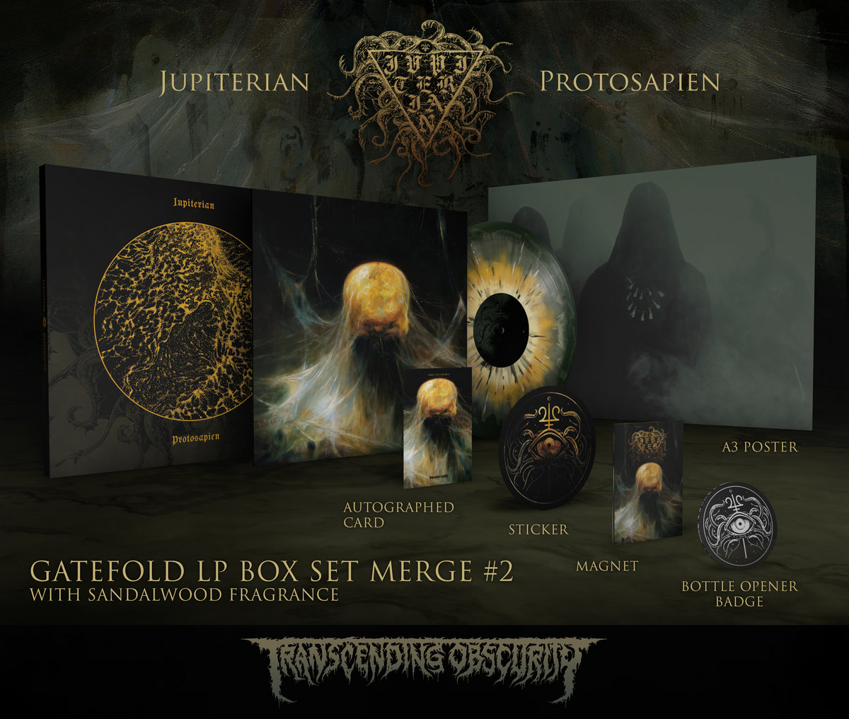 JUPITERIAN - Protosapien Autographed Gold LP Box Set (Limited to 25) Merge #2 Variant