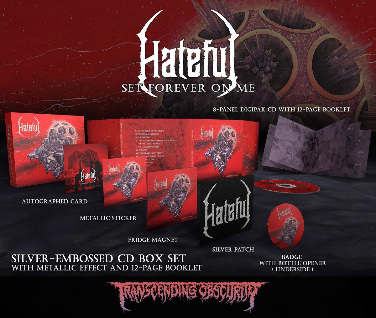 HATEFUL -  Set Forever On Me Autographed Silver Embossed Box Set (Limited to 100)