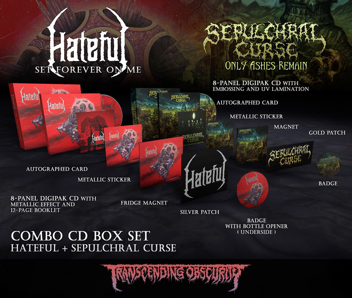 HATEFUL + SEPULCHRAL CURSE Autographed CD Box Set Combo