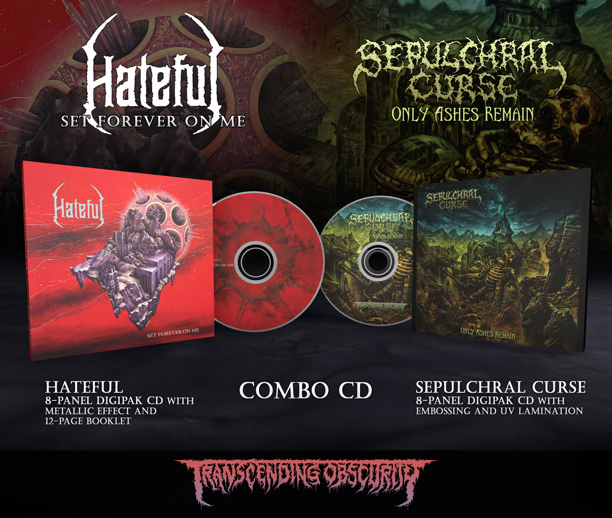 HATEFUL + SEPULCHRAL CURSE 8-Panel Digipak CD Combo