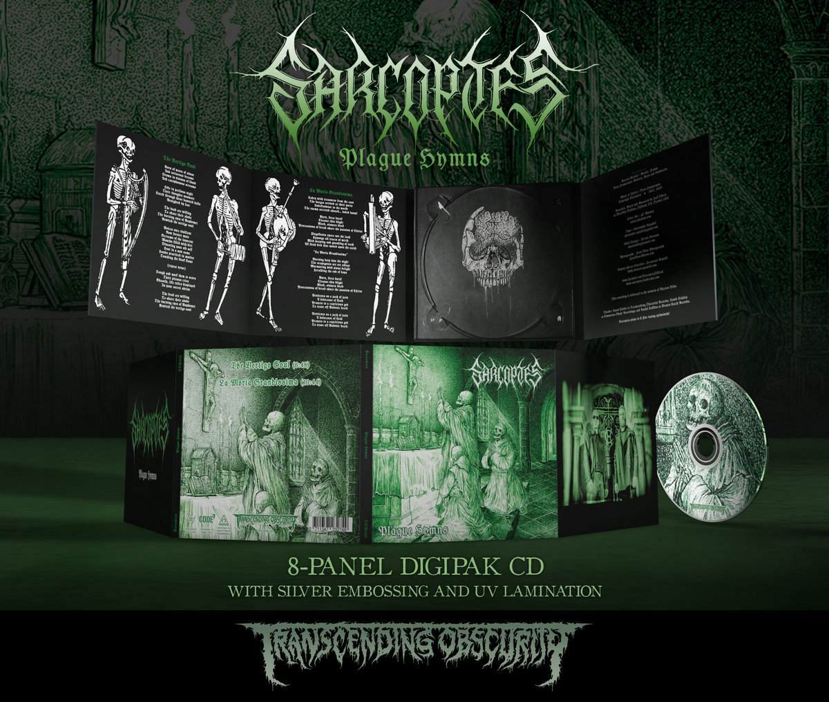 SARCOPTES -  Plague Hymns 8-Panel Digipak CD with Metallic Effect and UV Lamination