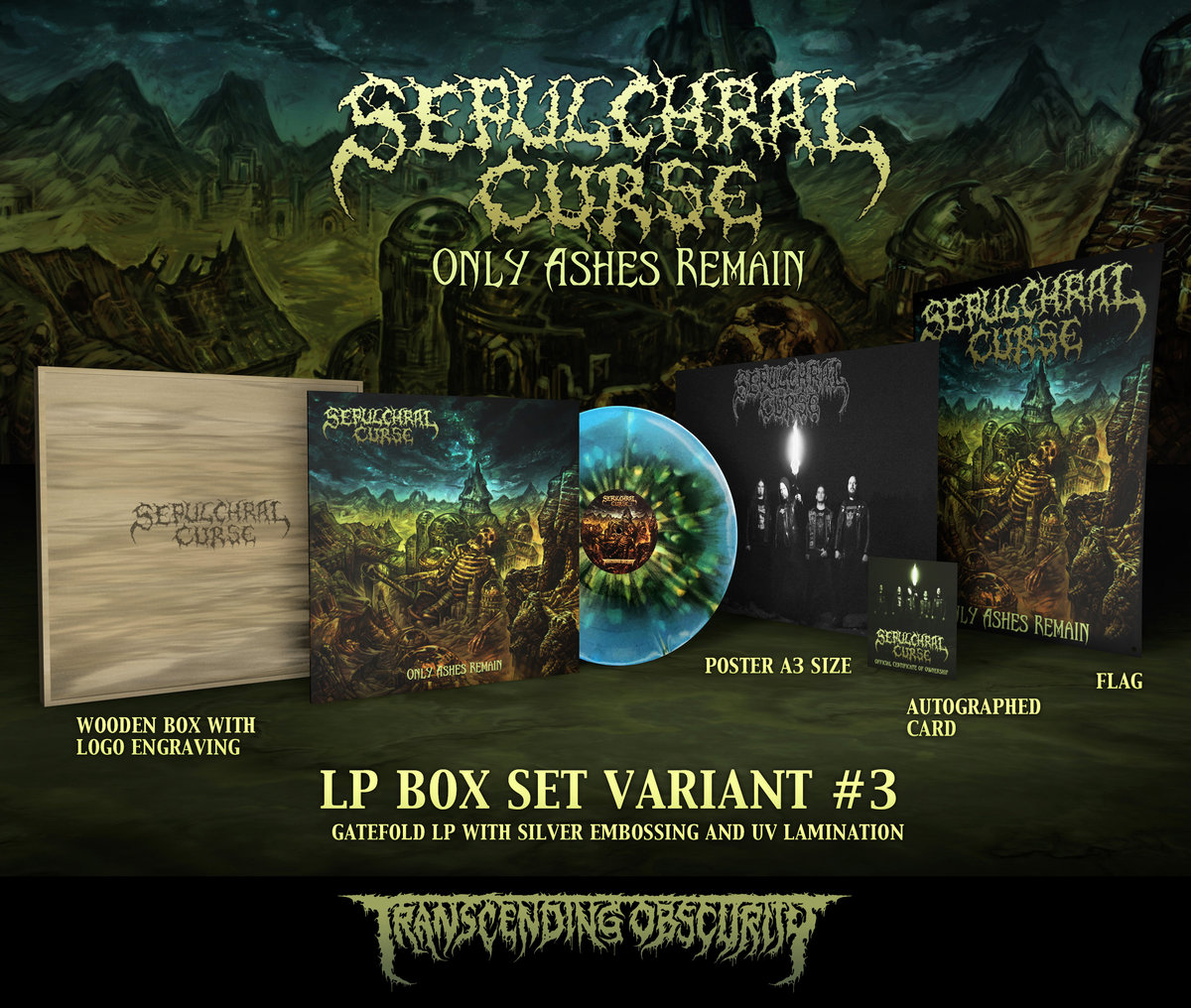 SEPULCHRAL CURSE Wooden LP Box Set with Logo Engraving (Limited to 20)