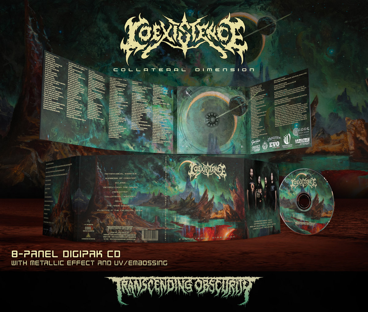 COEXISTENCE (Italy) - Collateral Dimension 8-Panel Digipak CD