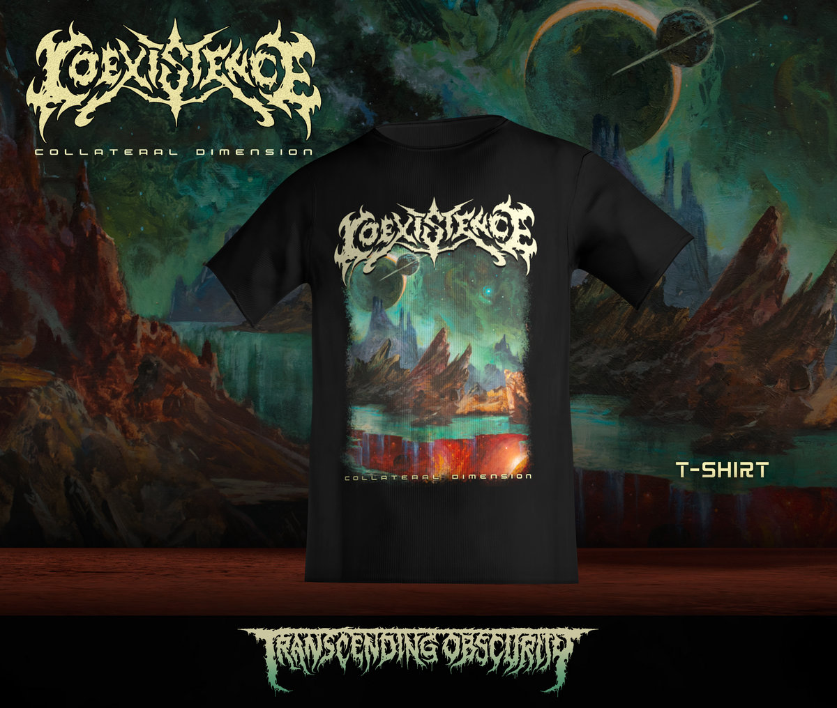 COEXISTENCE (Italy) - Collateral Dimension T-shirt (Limited to 30)