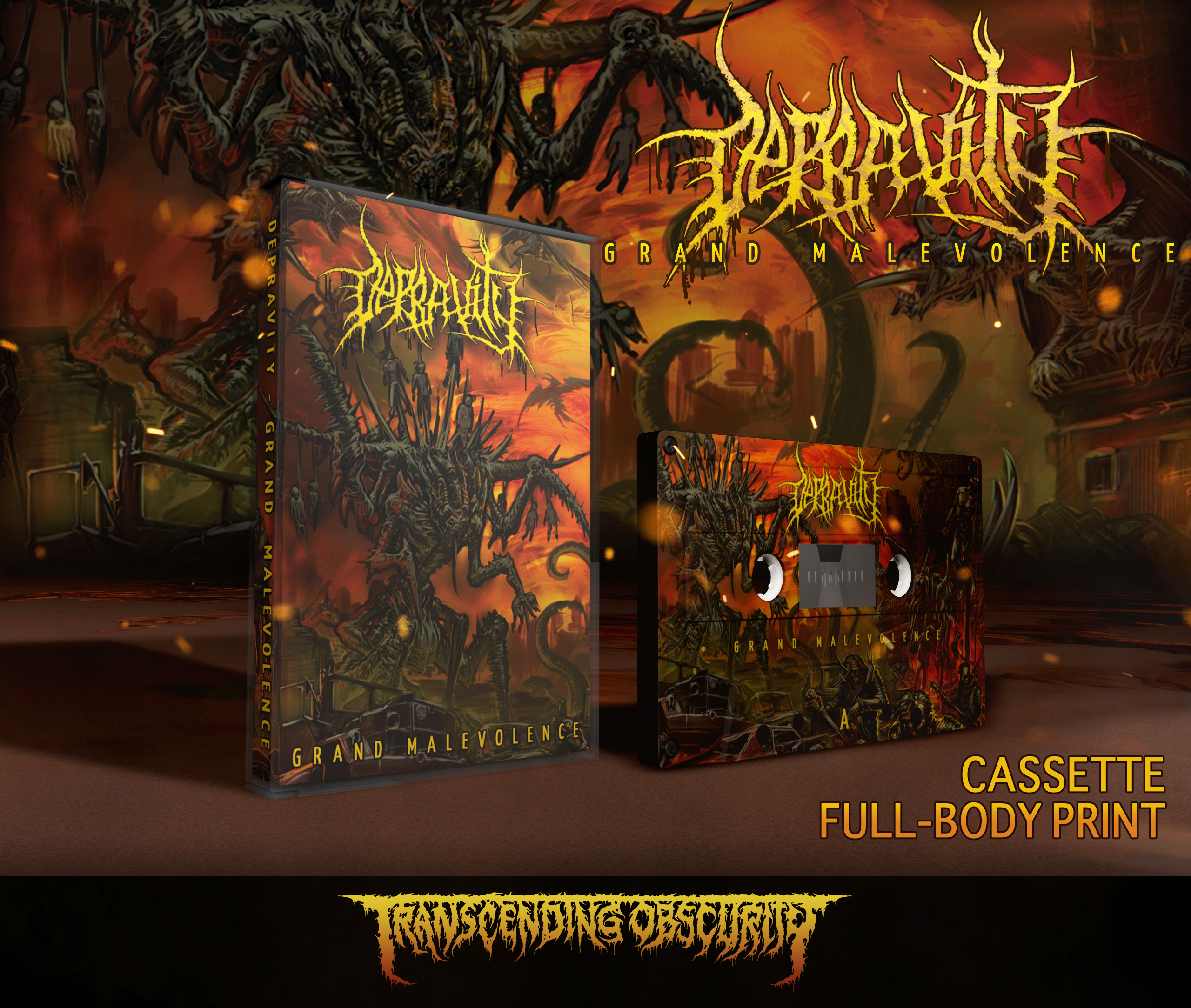 DEPRAVITY (Aus) - Grand Malevolence Full Body Print Cassette (Limited to 50)