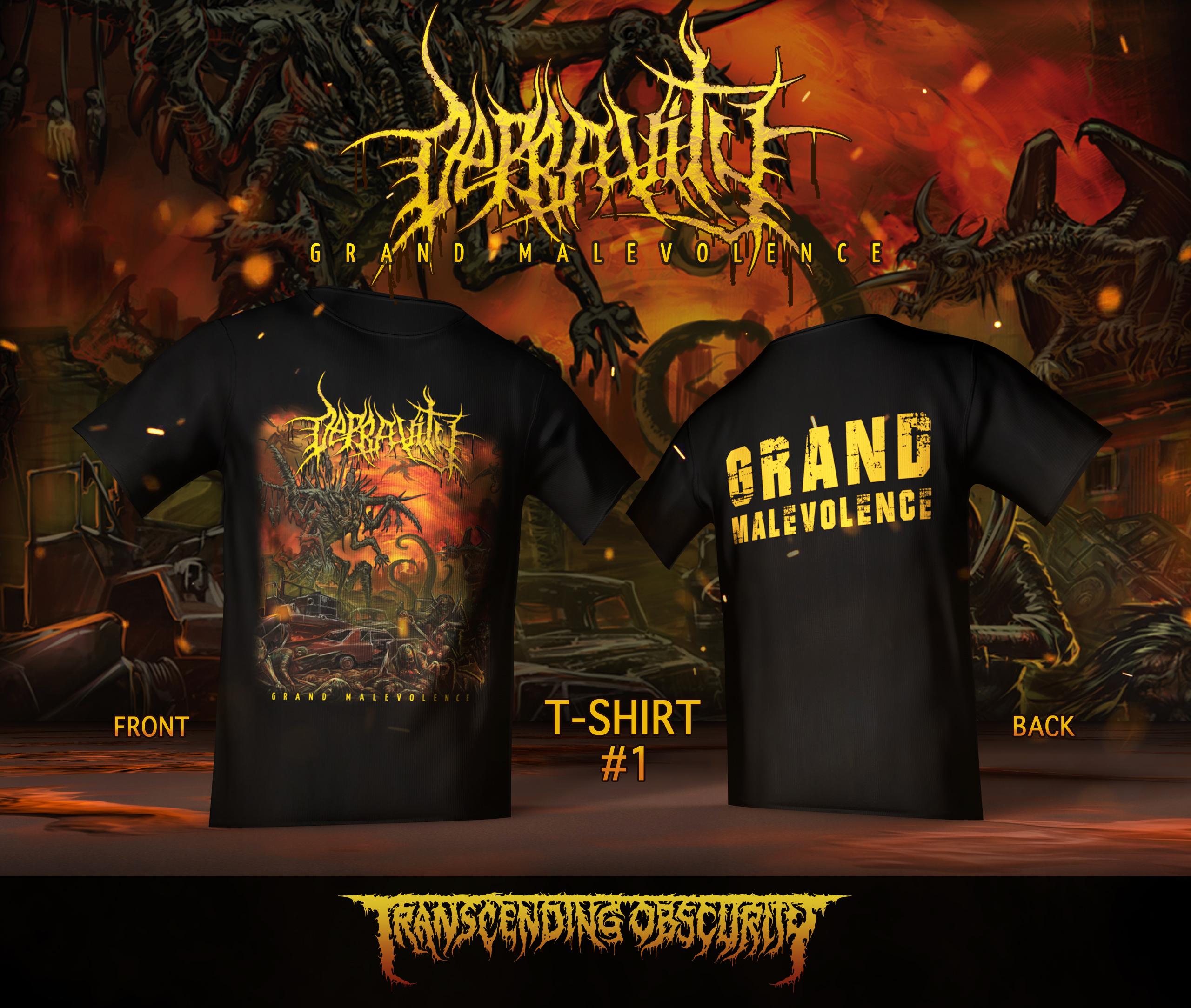 DEPRAVITY 'Grand Malevolence' Front Back Print T-shirt Variant #1
