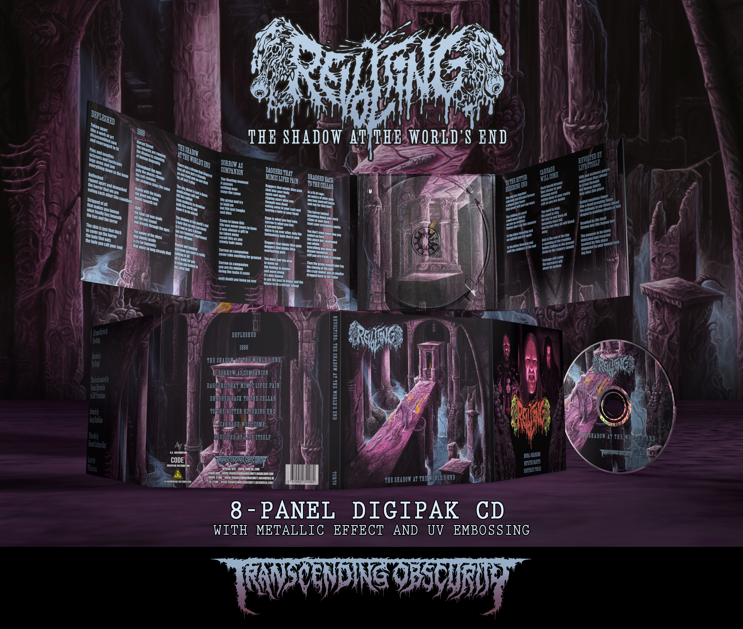 REVOLTING - The Shadow At The World's End 8-Panel Digipak CD with Metallic UV/Embossing Effect