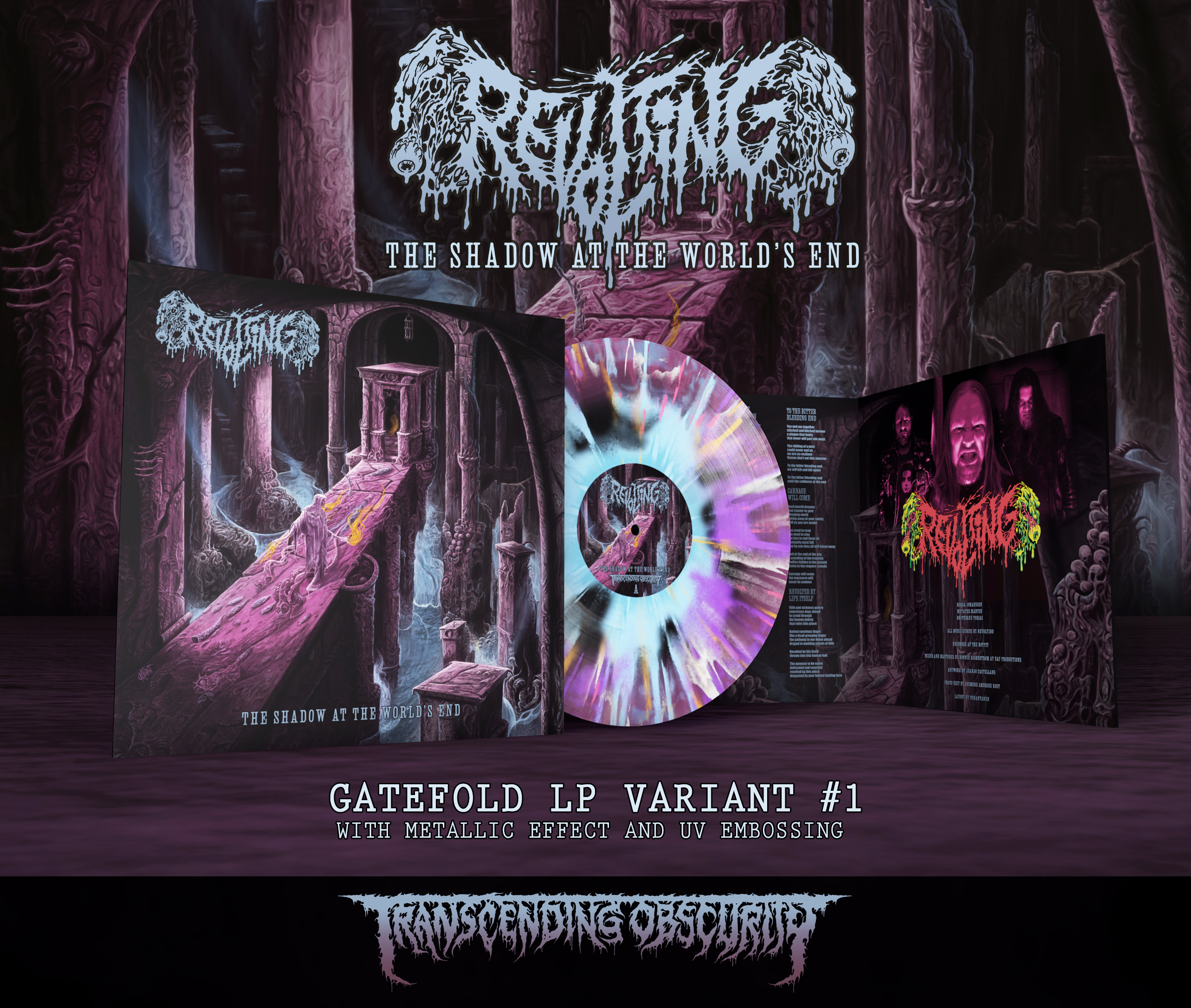 REVOLTING - The Shadow At The World's End Gatefold LP with Metallic Effect and UV Embossing