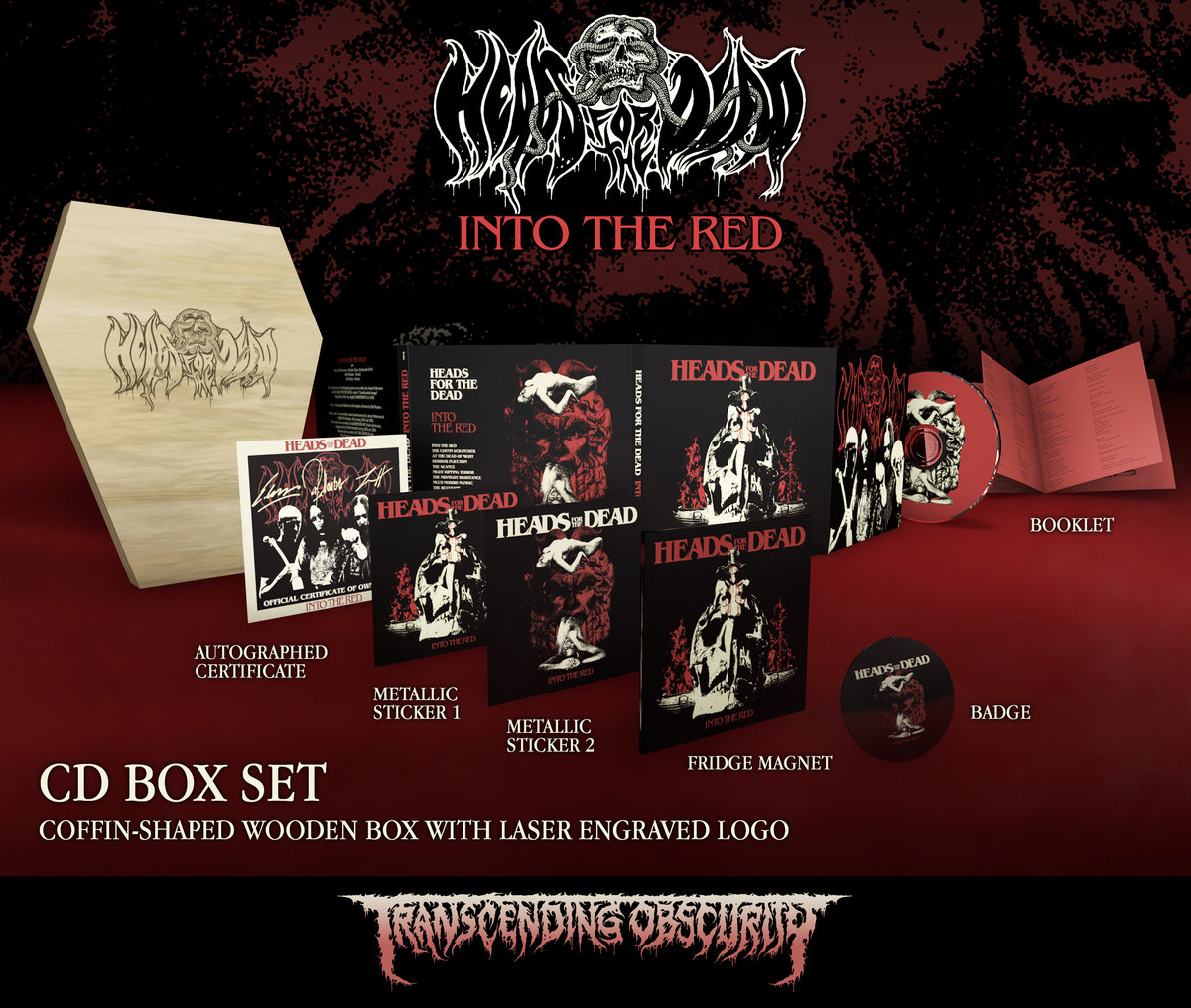 Heads For The Dead - Into The Red Coffin-Shaped Wooden CD Box Set (Limited to 100 nos.)