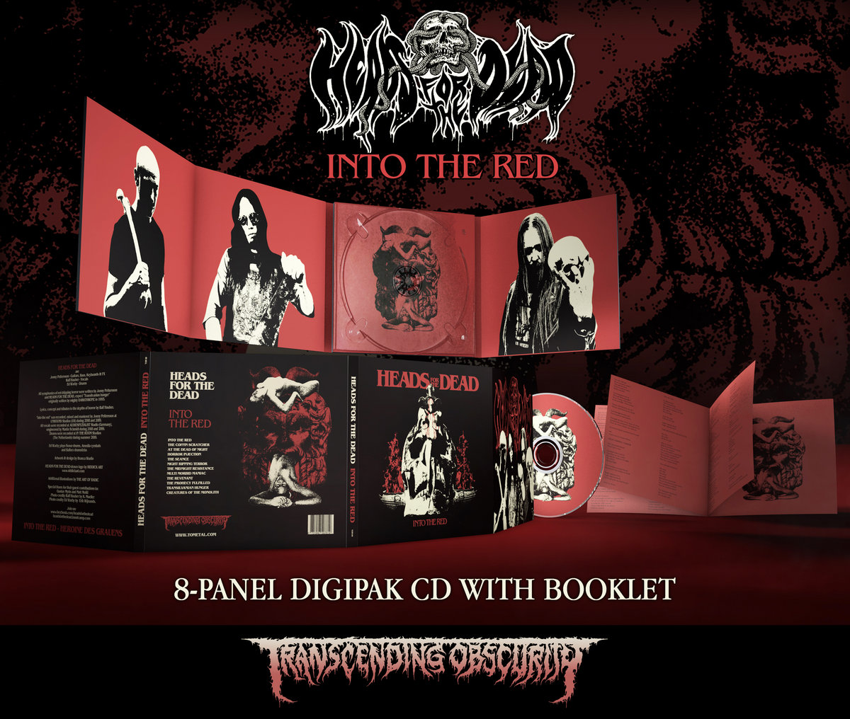 Heads For The Dead - Into The Red Digipak CD with 8-Panel Booklet