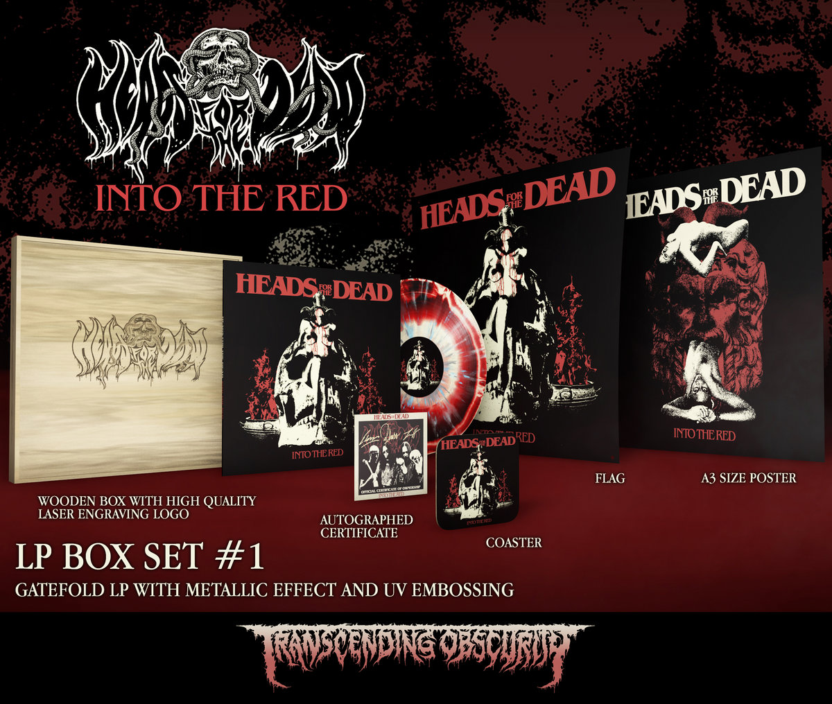 Heads For The Dead - Into The Red Wooden LP Box Set (Limited to 20 per variant)