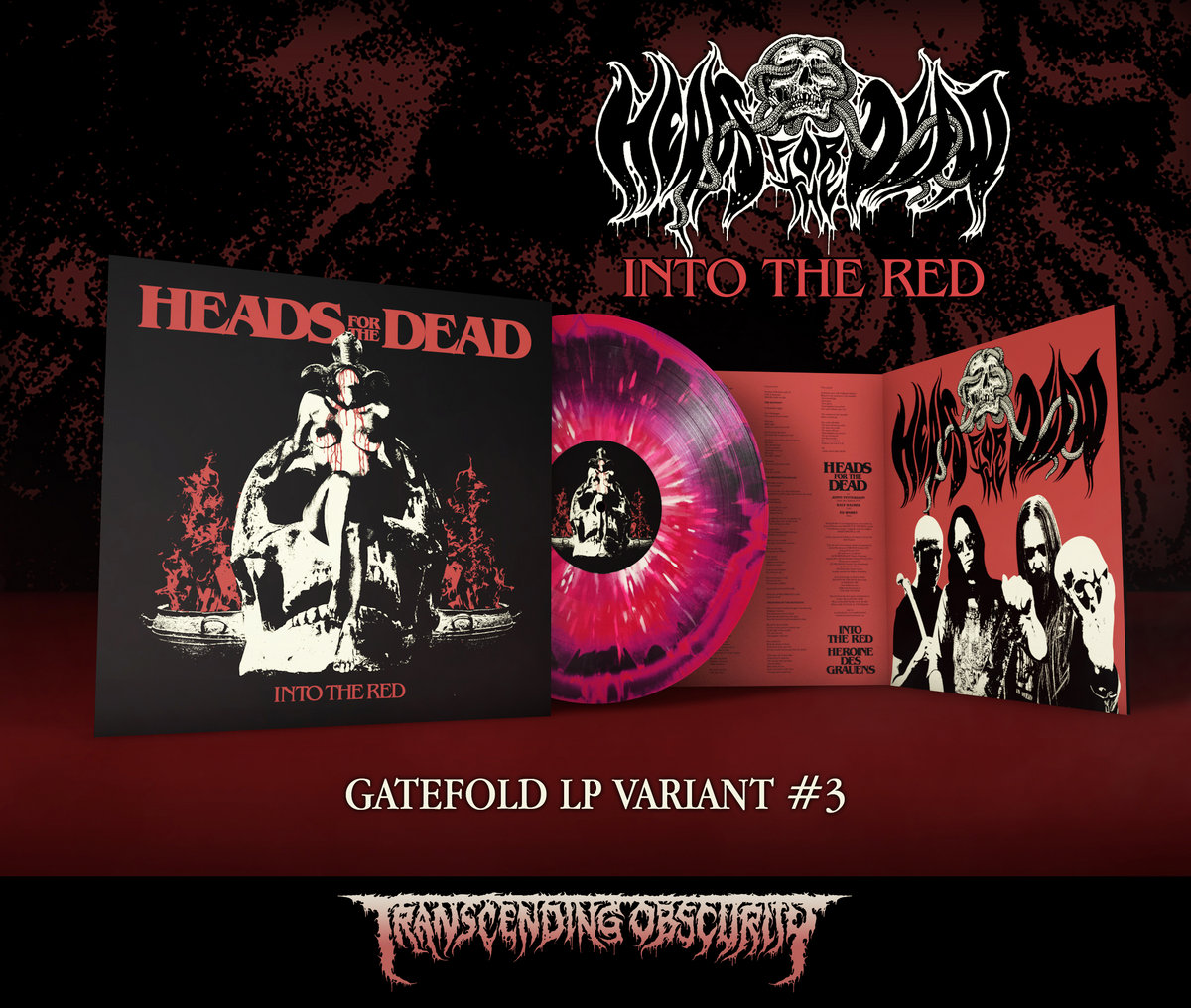 Heads For The Dead - Into The Red Gatefold LP (Limited to 80 per variant!)